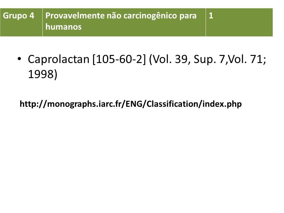 Caprolactan [105-60-2] (Vol. 39, Sup. 7,Vol. 71; 1998)